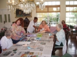 Bay Oaks residents making picture frames