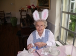 Mrs. Speck with festive bunny ears