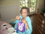 Mrs. George with Easter goodies