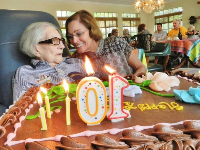 Ms Fleming 100 birthday