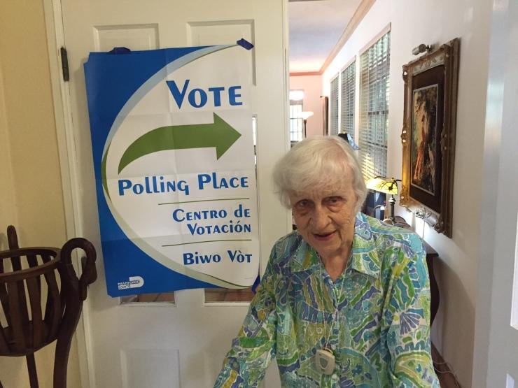 Ms Blake Voting